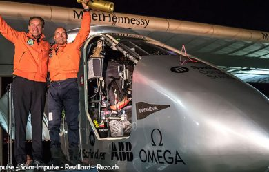 André Borschberg y Bertrand Piccard (Foto: Solar Impulse - Solar Impulse - Revillard - Rezo.ch)