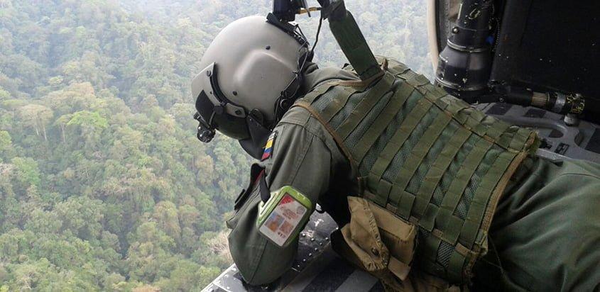 Misión de búsqueda del helicóptero HK-5049