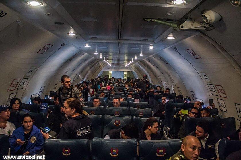 Interior de Boeing KC-767 de la FAC