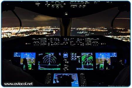 Avión Boeing 787 Dreamliner en Aproximación a Madrid, Barajas