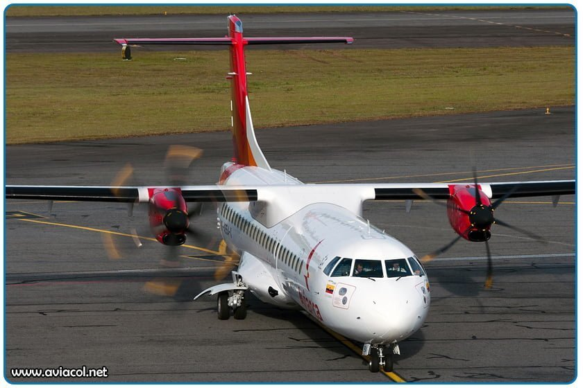 Aeronave Turbo Prop ATR-72 de Avianca
