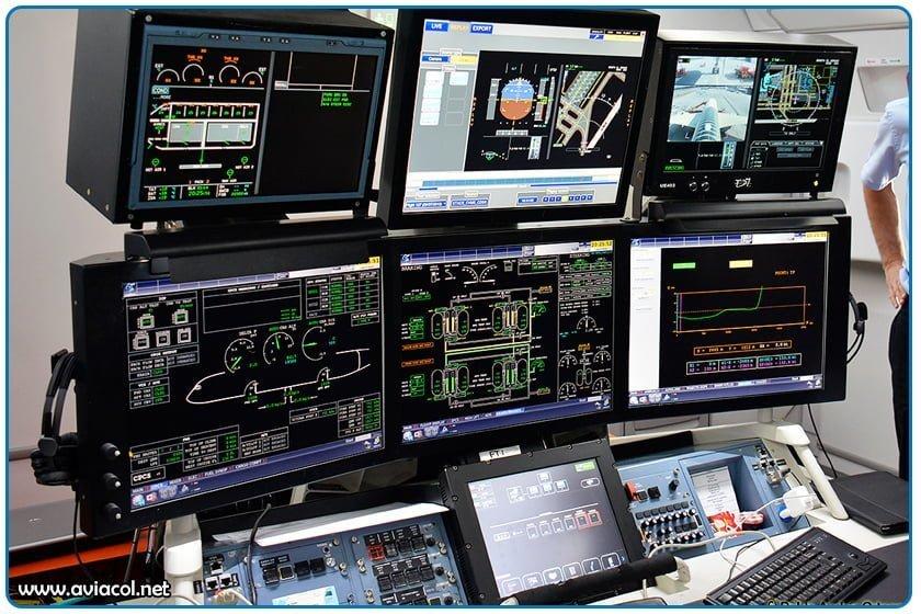Sensores a bordo de Aiburs 350 XWB de Prueba