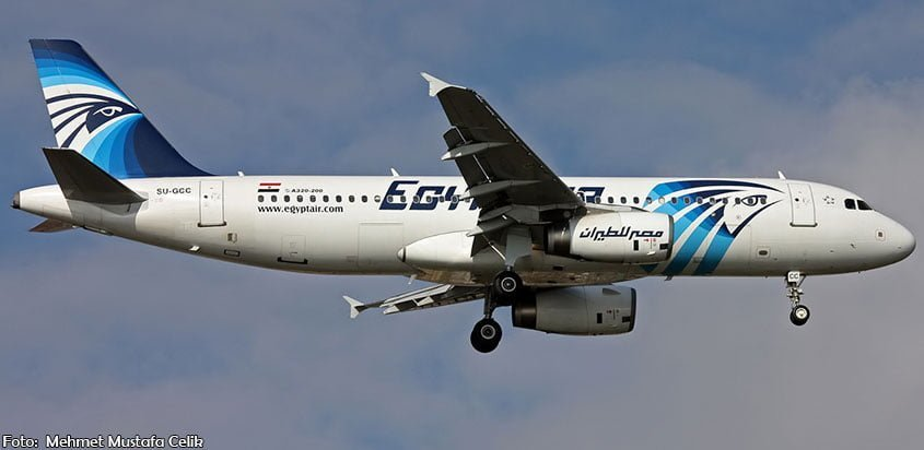 Avion A320 de EgyptAir accidentado