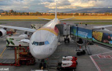 Airbus A340 de Iberia en Bogotá