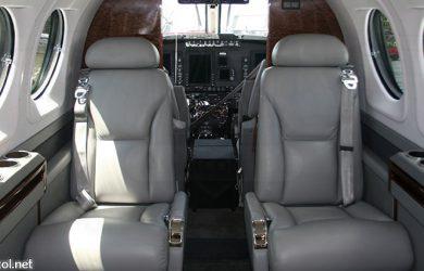 Interior de un avión ejecutivo