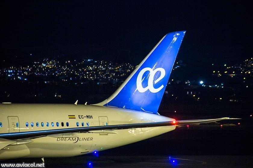 Boeing 787 de Air Europa en Bogotá