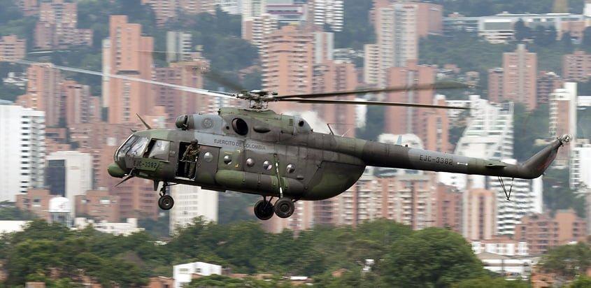 Helicóptero Mi-17 del Ejército de Colombia