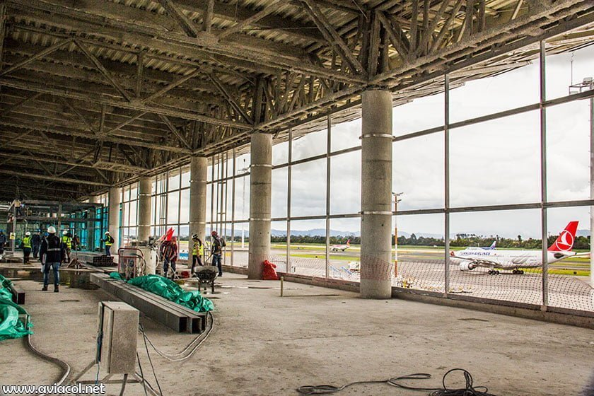 Obras en aeropuerto El Dorado de Bogotá