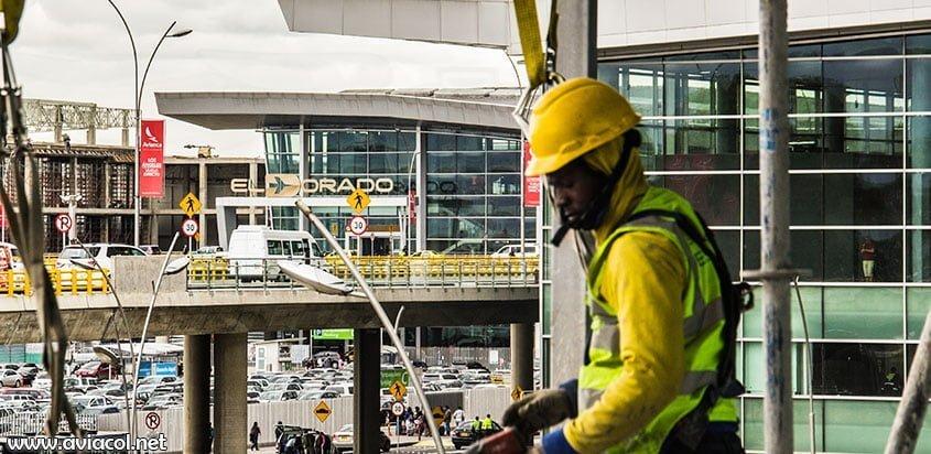 Obras en el aeropuerto El Dorado