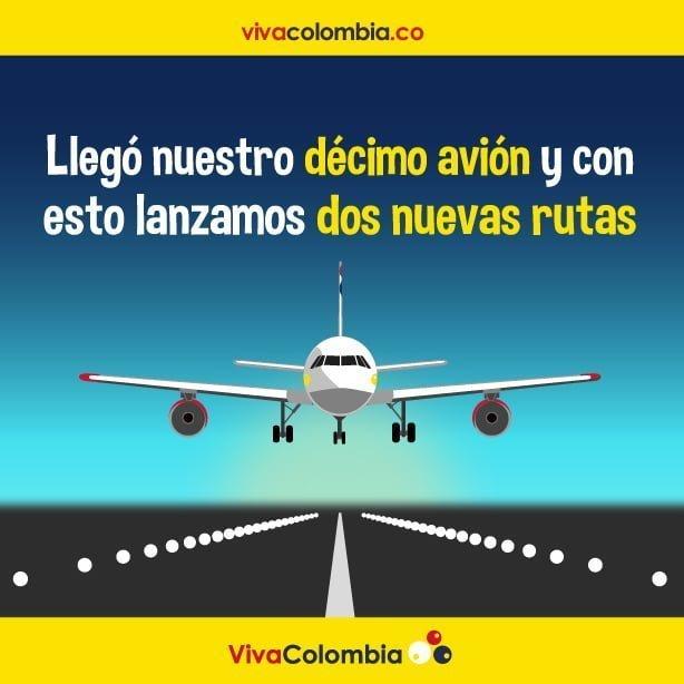 Llegó el décimo Airbus A320 de VivaColombia