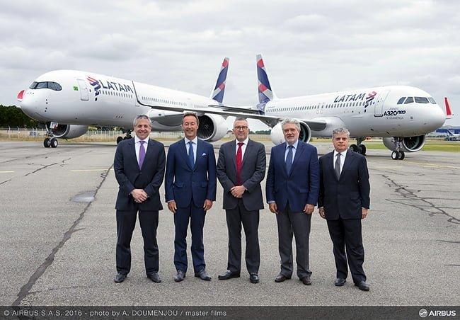 Entrega del primer Airbus A320neo para LATAM.