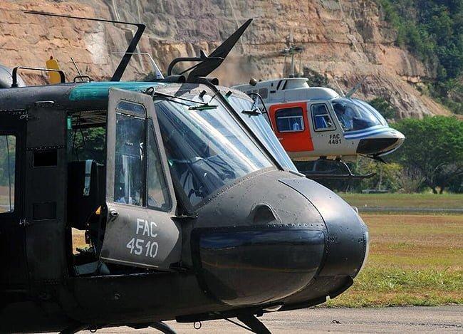 Tareas de búsqueda de aeronave accidentada en Flandes por parte de las Fuerzas Militares y de Policía