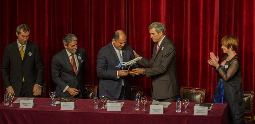 Celebración aniversario 50 de Copa Airlines en Costa Rica