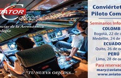 Seminarios de Aviator College en América Latina.