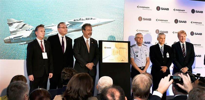 Inauguración del Centro de Proyectos y Desarrollo del Gripen en Brasil.