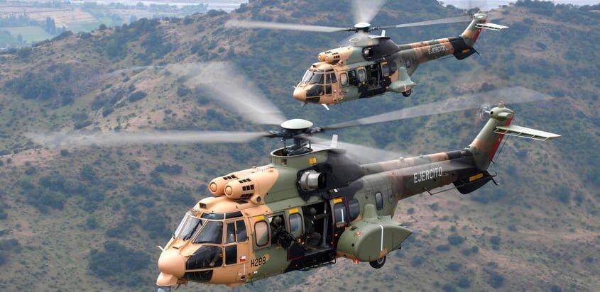 Airbus Helicopters H215M del Ejército de Chile.