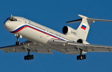 Tupolev 154 en aproximación final al Aeropuerto Chkalovsky que sirve a la ciudad de Shchyolkovo, Rusia