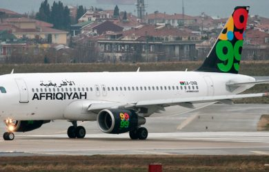 Airbus A320 de Afriqiyah como el secuestrado en Malta.