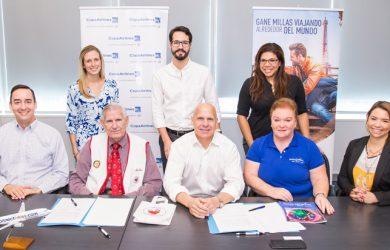 Copa Airlines en el lanzamiento de Donate Miles.