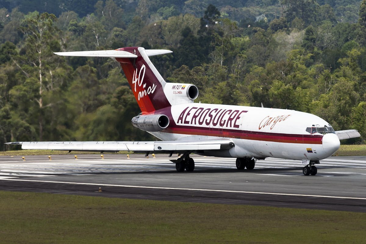 Boeing 727 de Aerosucre en Rionegro.