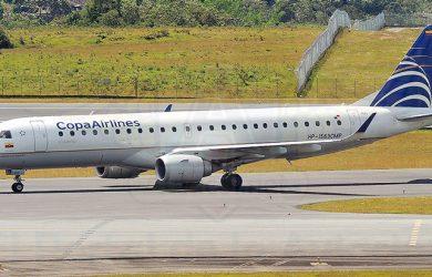 Embraer 190 de Copa Airlines en Rionegro.