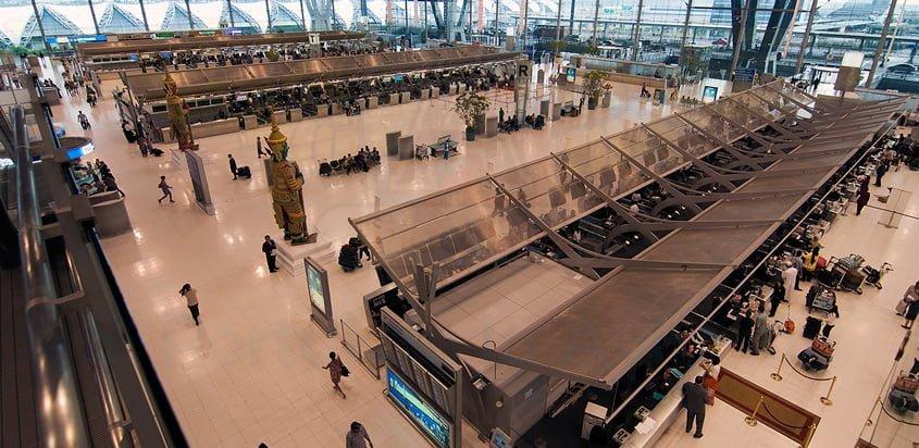 Vista del Aeropuerto Internacional de Bangkok