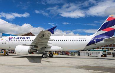 Airbus A320 de LATAM Airlines como el que realizará la ruta.