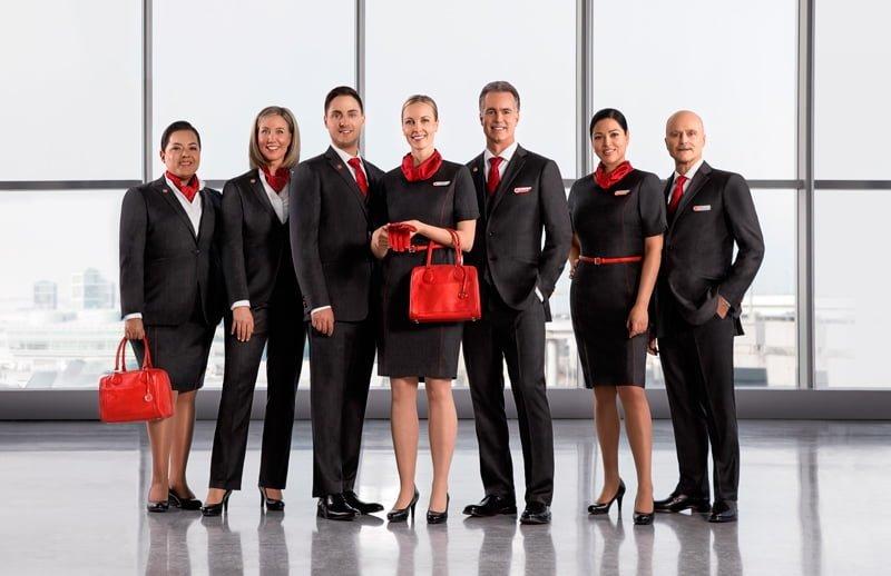 Nuevos Uniformes de Air Canada.