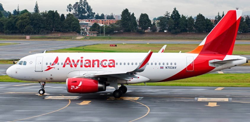 Airbus A319 de Avianca en Bogotá.