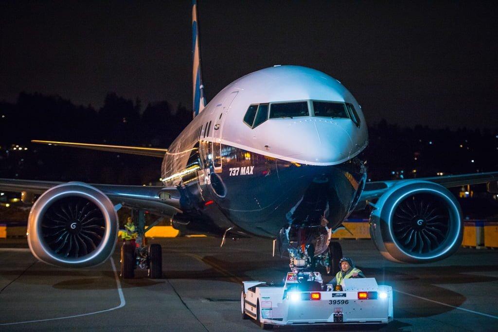 Boeing 737MAX-9 antes de su Presentación Oficial.