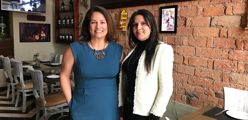 María Manzella, Autoridad de Turismo de Nueva Orleans y Paola Castaño, gerente comercial de Copa Airlines Colombia.