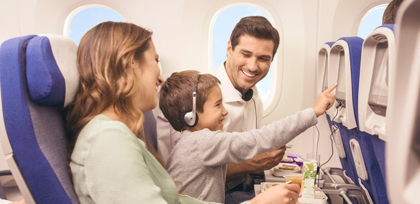 Entretenimiento abordo de LATAM Airlines