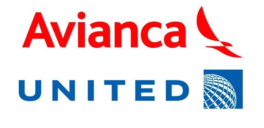 Logos de Avianca y United Airlines, nuevos socios estratégicos.