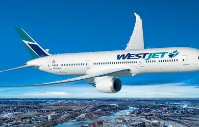 Render de un Boeing 787-9 de WestJet.