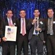Miembros de Airbus y Avianca en la entrega del Premio.
