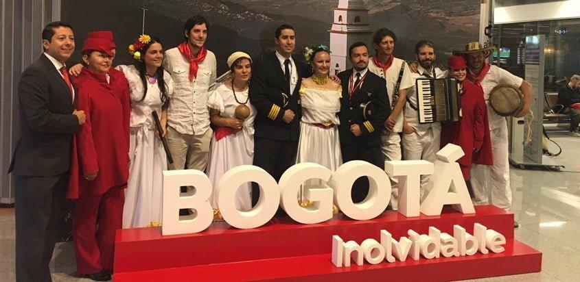 Inauguración del Vuelo inaugural de Avianca a Montevideo.