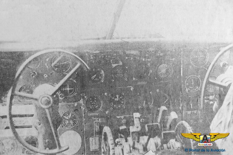 Cabina de mando del HK-388. (Foto: Diario El Tiempo)