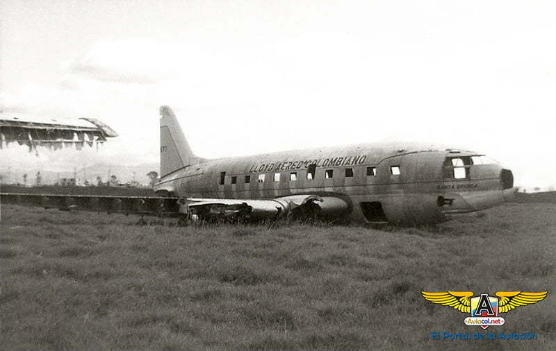 Curtiss C-46 de Lloyd Aéreo Colombiano con matrícula HK870.