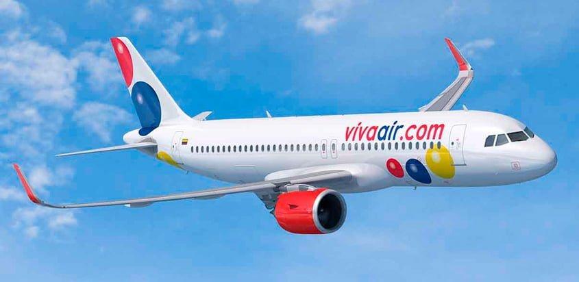 Render de un Airbus A320 de Viva Air.