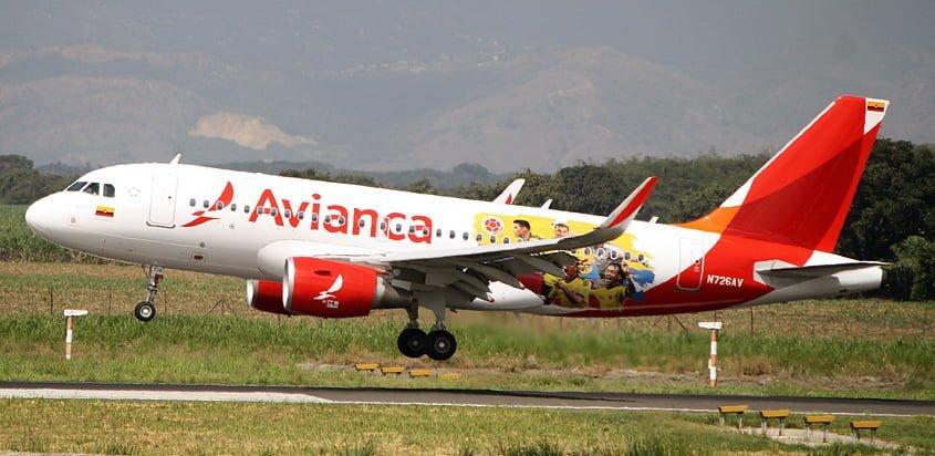 Airbus A319 de Avianca con livery de la selección Colombia.