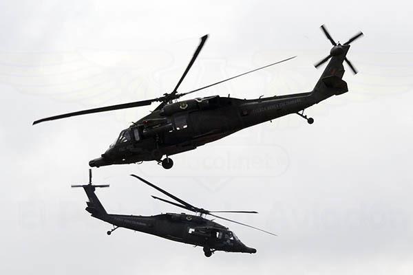 Show de los Black Hawk Arpía de la Fuerza Aérea Colombiana en F-AIR 2017.