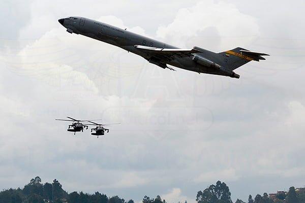 Demostración de capacidades Fuerza Aérea Colombiana en F-AIR 2017.