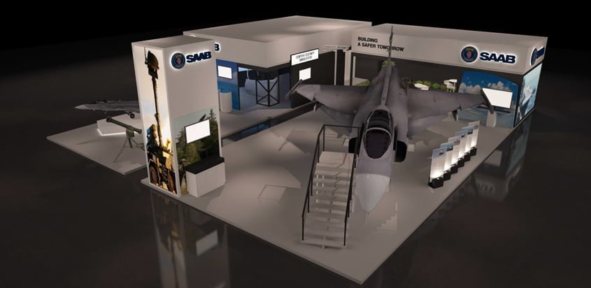 Stand de SAAB en F-AIR 2017.
