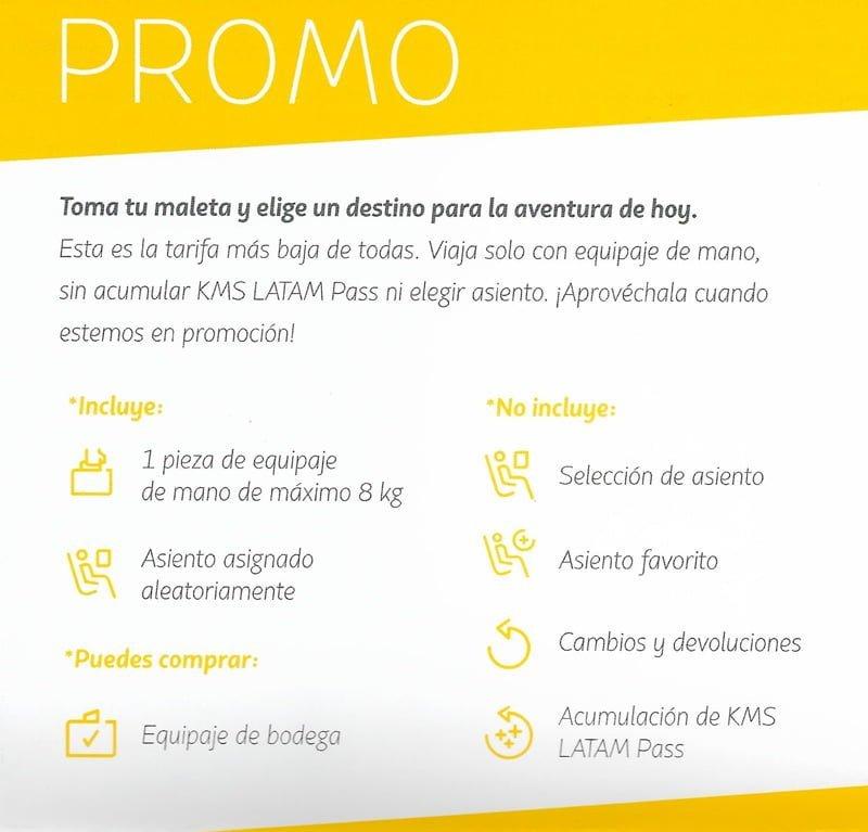 Tarifa Promo LATAM Airlines