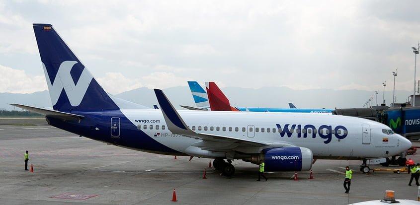 Boeing 737-700 de Wingo en el Aeropuerto Internacional Eldorado de Bogotá.