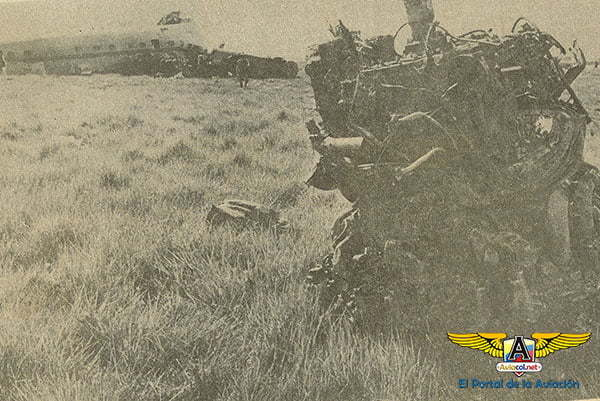 Accidente Lockheed L-1649A de Aerocóndor en Eldorado (Bogotá)