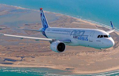 Airbus A320neo en vuelo.