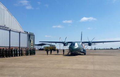 Airbus C295 SAR llegando a Campo Grande, Brasil.