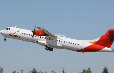 ATR 72-600 de Avianca despegando.