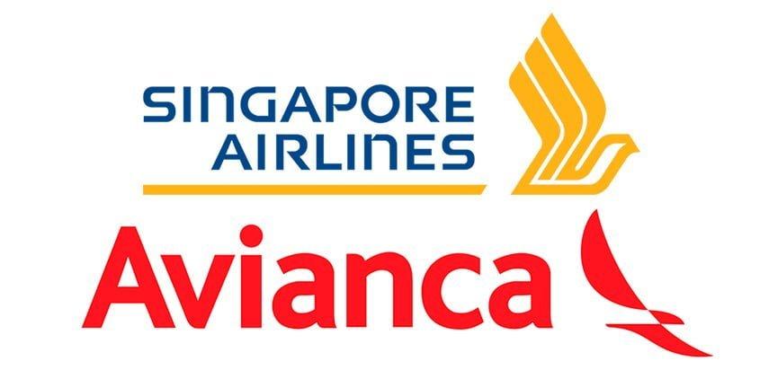Logos de Avianca y Singapore Airlines.